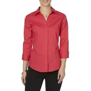 Riders By Lee Effortless Care Pink Button Down XXL